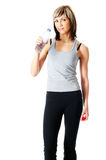 Sportswoman Drinking Water Stock Image