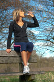 Sportswoman Drinking Water Royalty Free Stock Image