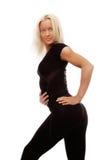 Sportswoman durante a aptidão fotos de stock royalty free