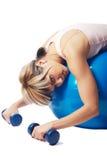 Sportswoman faticoso Fotografia Stock Libera da Diritti