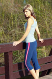 Sportswoman Lunging Outdoors. Stock Images