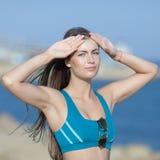 Sportswoman on open air Stock Photos