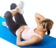 Sportswoman practicing yoga Royalty Free Stock Photography