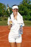 Sportswoman with racket Stock Photography