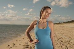 Sportswoman with smart watch Royalty Free Stock Photo
