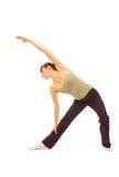 Sportswoman stretch herself Stock Photo