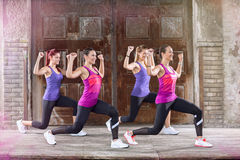 Sportswoman training outside Royalty Free Stock Photo