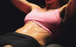 Sportswoman Working Out Royalty Free Stock Images