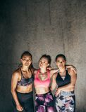 Sportswomen standing together after workout Stock Photo