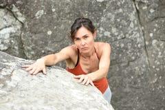 Sportswomen who practice climbimg Royalty Free Stock Photo