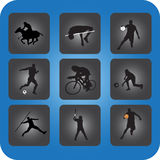 Sportsymboler vektor illustrationer