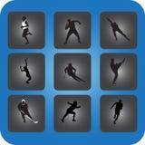 Sportsymboler stock illustrationer