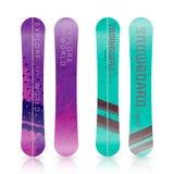 Sportsymboler av snowboarden royaltyfri illustrationer