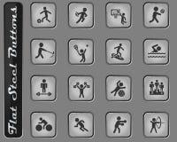 Sportsymbolsuppsättning royaltyfria bilder