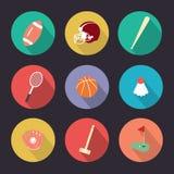 Sportsymbolsuppsättning stock illustrationer