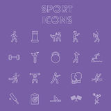 Sportsymbolsuppsättning Arkivbilder