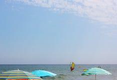 Sporttätigkeiten in Mittelmeer, Spanien Lizenzfreie Stockfotografie