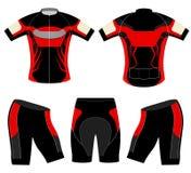 Sportt-skjorta röd stil stock illustrationer