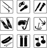 Sporttauchenausrüstung Lizenzfreie Stockbilder