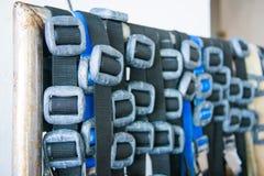 Sporttauchenbleigewicht und -gurte lizenzfreie stockfotos