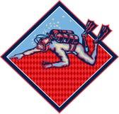 Sporttaucher Diving Retro Lizenzfreie Stockfotografie
