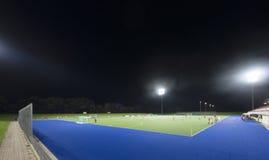 Sportterrein bij nacht Stock Fotografie