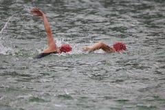 Sporttriatlon het zwemmen Royalty-vrije Stock Foto's