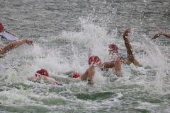 Sporttriatlon het zwemmen Stock Afbeelding