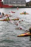 Sporttriatlon het zwemmen Royalty-vrije Stock Afbeeldingen