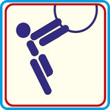 Sportturner opleiding, pictogram, Illustraties Stock Foto's