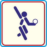 Sportturner opleiding, pictogram, Illustraties Stock Foto