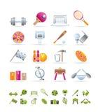 Sportuitrusting en hulpmiddelen vector illustratie