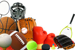 Sportuitrustingen stock afbeeldingen
