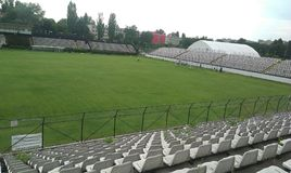 Sportul Studentesc, Bucharest stadion Royaltyfria Foton