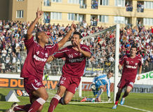 Sportul Studentesc- Rapid Bucharest lizenzfreie stockfotografie