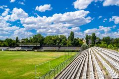 Old Football Stadium royalty free stock images