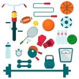 Sportutrustning för utbildning royaltyfri illustrationer