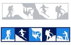 sportvinter vektor illustrationer