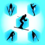 sportvinter arkivbild