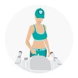 Sportvrouw - fitness Royalty-vrije Stock Fotografie