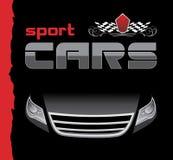 Sportwagen. Achtergrond voor ontwerp royalty-vrije illustratie