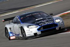 Sportwagen, Aston Martin DB9 (de FIA GT) Royalty-vrije Stock Afbeelding
