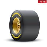 Sportwagen breed wiel Vector illustratie Stock Afbeelding