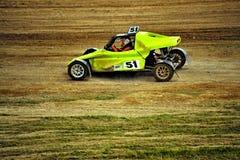 Sportwagen die autocross rennen Stock Foto's