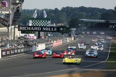 Sportwagen, het Klassieke 24h Ras van Le Mans Royalty-vrije Stock Afbeeldingen