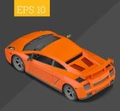 Sportwagen isometrische vectorillustratie royalty-vrije illustratie