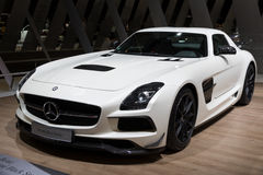 2013 sportwagen van de de Coupé de Zwarte Reeks van Mercedes Benz SLS AMG C197 Stock Fotografie