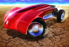 Sportwagen van sc.i-FI van de fantasie de futuristische conceptuele royalty-vrije stock foto