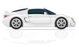 Sportwagen vectorillustratie Stock Foto's