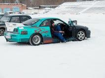 Sportwagen voor de concurrentie het Afdrijven Royalty-vrije Stock Afbeeldingen